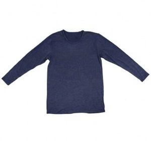 特力樂活咖啡紗保暖熱感衣 男版圓領長袖 深藍色 L-XL