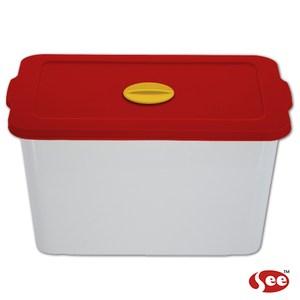 【S.E.E.】Breere會呼吸的保鮮盒(2000ml/方形)-紅色