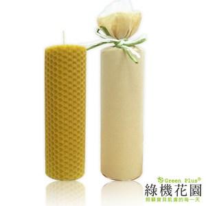 【綠機花園】天然精油蜂蠟蠟燭《大圓捲》80g