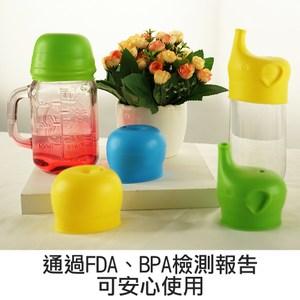 【佶之屋】馬卡龍純色食品用FDA矽膠防漏杯蓋兒童款藍色