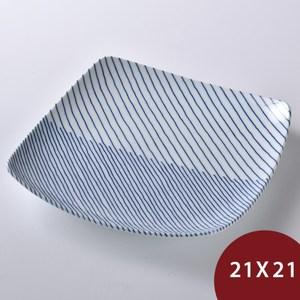 Hakusan   重紋 方型淺盤  21x21cm