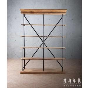復古工業風 法式鐵件 書架【15572】W150 x D40 x H210cm