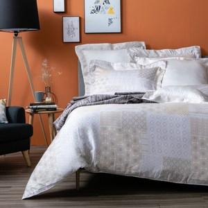 HOLA 卡斯特黃天絲床包兩用被組 加大