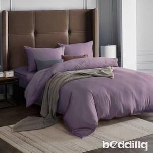BEDDING-吸濕排汗天絲-單人薄床包兩用被套三件組-薇紫