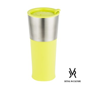 JVR 韓國原裝 BASIC不鏽鋼繽紛隨行杯450ml-共3色萊姆綠
