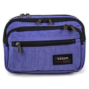YESON - 多拉鍊隔層腰包三色可選MG-738藍色系