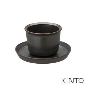 日本KINTO LT杯盤組160ml- 共兩色黑