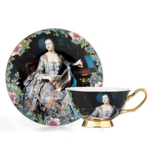 【Royal Duke】骨瓷咖啡對杯-皇宮仕女(典雅英式風格)
