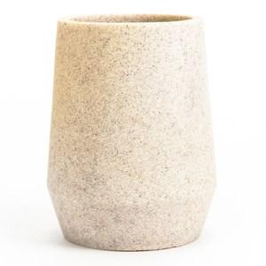 HOLA 自然仿沙岩圓錐形衛浴漱口杯