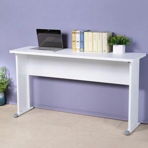 Homelike 貝克140x40工作桌-加厚桌面白色桌面/白色腳