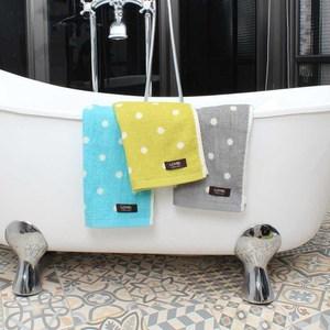 Lovel 專利咖啡紗除臭抗UV圓點毛巾3件組藍X3