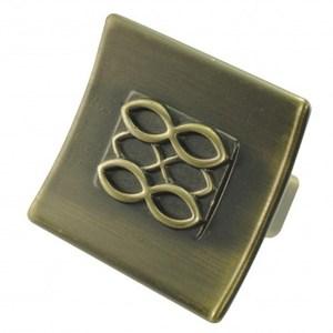 鋅質鍍古銅把手16mm