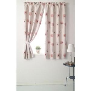 【三房兩廳】花舞幸運草遮光窗簾-粉色300X210cm