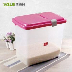 【YOLE悠樂居】大容量滾輪保鮮米桶#1134007