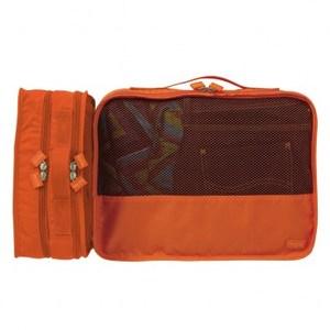 Lapoche 立體旅行衣物收納包(中)-橘色