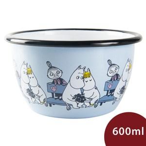 Muurla 嚕嚕米點心碗 靠在一起 粉藍 600ml