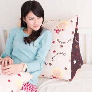 【奶油獅】正版授權-台灣製造-搖滾星星三角靠墊-米色(一入)