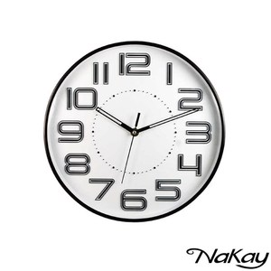 NAKAY 12吋超靜音立體數字掛鐘 NCL-37