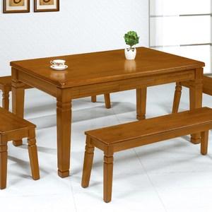 【YS】艾狄柚木實木3.5尺休閒桌-144x88.5x75cm(不含玻