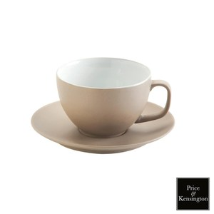 【P&K】經典咖啡杯443ml附盤(灰)