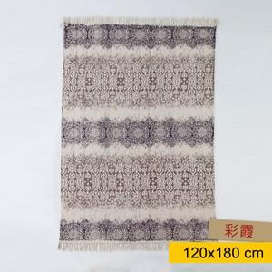 米凱爾印花棉地毯120x180cm 彩霞