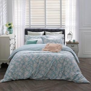 【BBL Premium】綠茵花境100%精梳棉.印花雙人兩用被床包組