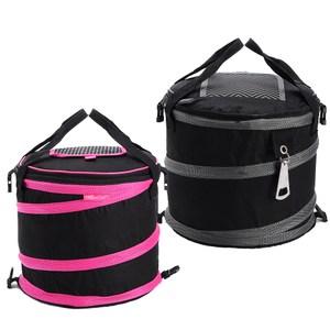 買達人 大容量圓筒野餐籃(2入) 黑色