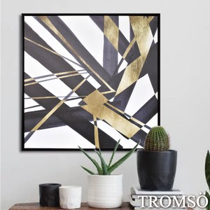 TROMSO時尚風華抽象有框畫大幅-摩登輝煌W971