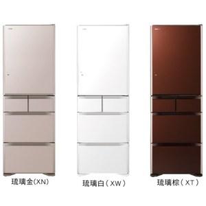 回函贈【日立HITACHI】日本原裝501L五門變頻電冰箱(琉璃棕) RG500GJ