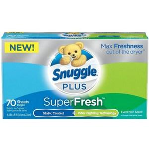 New!【美國 Snuggle】烘乾機香衣片-超級清新(70片)*3
