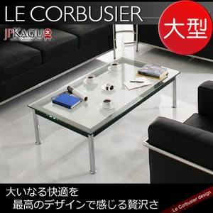 JP Kagu 柯比意設計復刻工業風強化玻璃矮桌/茶几LC10-大