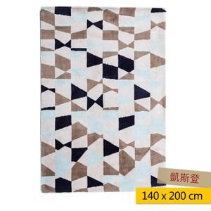 凱斯登地毯 140x200cm 幾何藍