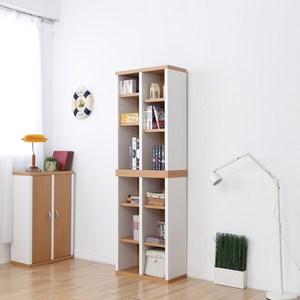 兩入一組【Accessco】日系雙色六格厚板收納書櫃(原木白)