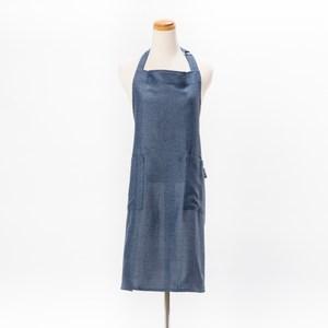 HOLA 素色織紋圍裙70x80cm靛藍色