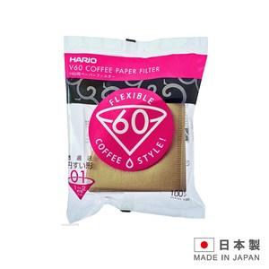 HARIO 日本製造 咖啡濾紙1-2杯用 VCF-01-100M-100入