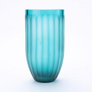 奈可玻璃花器 29CM 藍