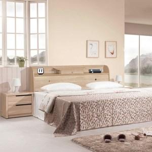 【樂和居】小抽北原橡木5尺雙人床頭箱(不含床墊、床板)北原橡木色