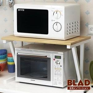 【BLAD】雙倍收納-高質感高耐重木紋雙層廚房微波爐架(原木淺)原木淺