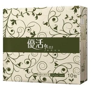 優活 Livi 抽取式衛生紙100抽x10包x10袋
