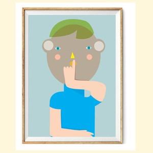 【摩達客】西班牙知名插畫家Judy Kaufmann藝術創作海報版畫掛畫裝飾畫-秘密03