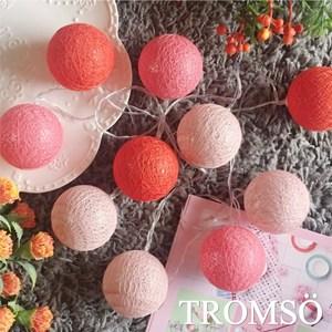 TROMSO-LED溫馨毛線裝飾燈串-俏粉紅