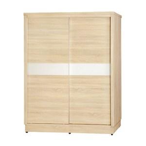 【YFS】卡特4尺原切橡木三拉衣櫃-120x59.5x203cm