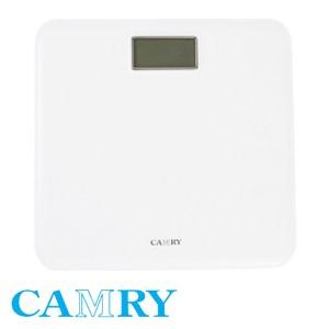 CAMRY 仿皮紋電子體重計 白色款