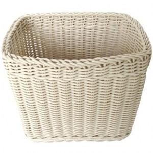 德爾編織籃 長方深形 小尺寸 米白色款 18x26x24cm