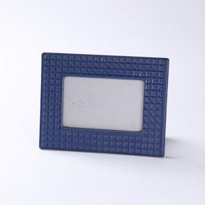 齊理安陶瓷相框 藍 4X6