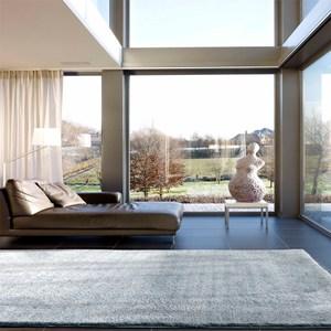 絲絨長毛地毯140x200cm藍灰