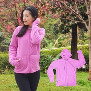 【日本熱銷】COLORFULl抗UV吸排涼感連帽外套(紫色)M號