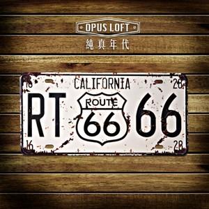 OPUS 仿舊鐵皮車牌/復古壁飾/裝飾鐵皮畫(california)