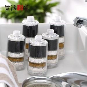 【生活采家】家用交叉導水淋浴除氯過濾器超值五件組_家3+家加2(#99286)