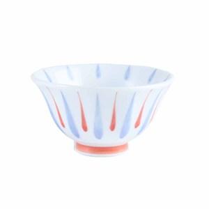 日本筆十草紋飯碗11.5cm 红